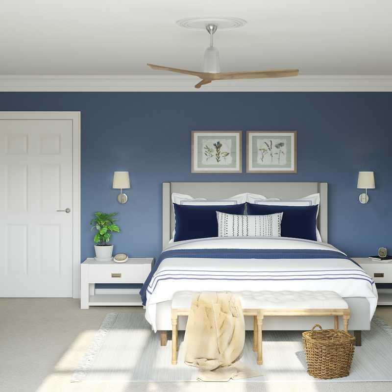 Classic, Coastal, Farmhouse, Transitional Bedroom Design by Havenly Interior Designer Marsha