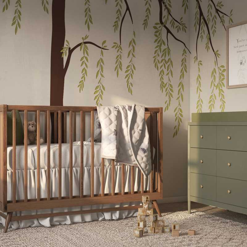 Modern, Classic, Bohemian, Glam, Transitional, Midcentury Modern Bedroom Design by Havenly Interior Designer Shalene