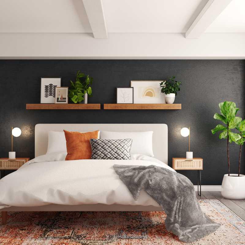 Bohemian, Midcentury Modern Bedroom Design by Havenly Interior Designer Seireen