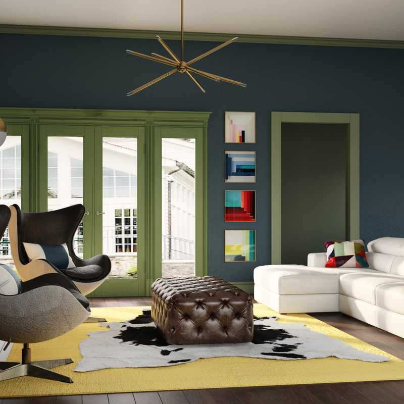 Contemporary, Modern, Eclectic, Glam Living Room Design by Havenly Interior Designer Katie