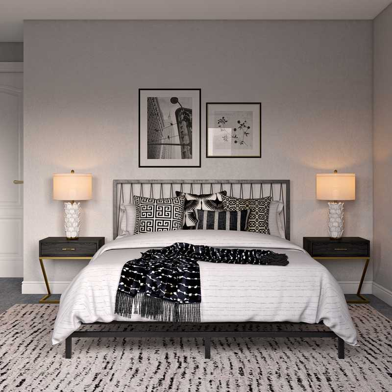 Classic, Glam Bedroom Design by Havenly Interior Designer Fiona