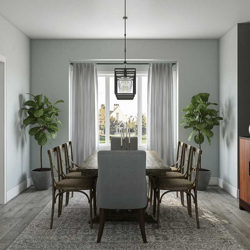 Traditional, Farmhouse Dining Room Design by Havenly Interior Designer Madeline