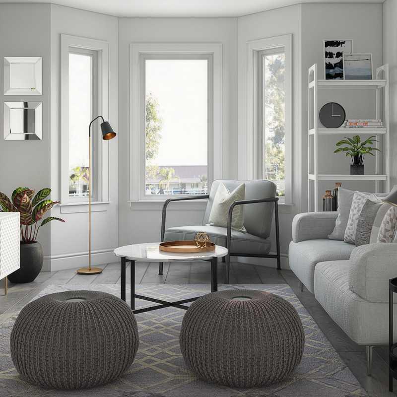 Midcentury Modern, Scandinavian Living Room Design by Havenly Interior Designer Karina
