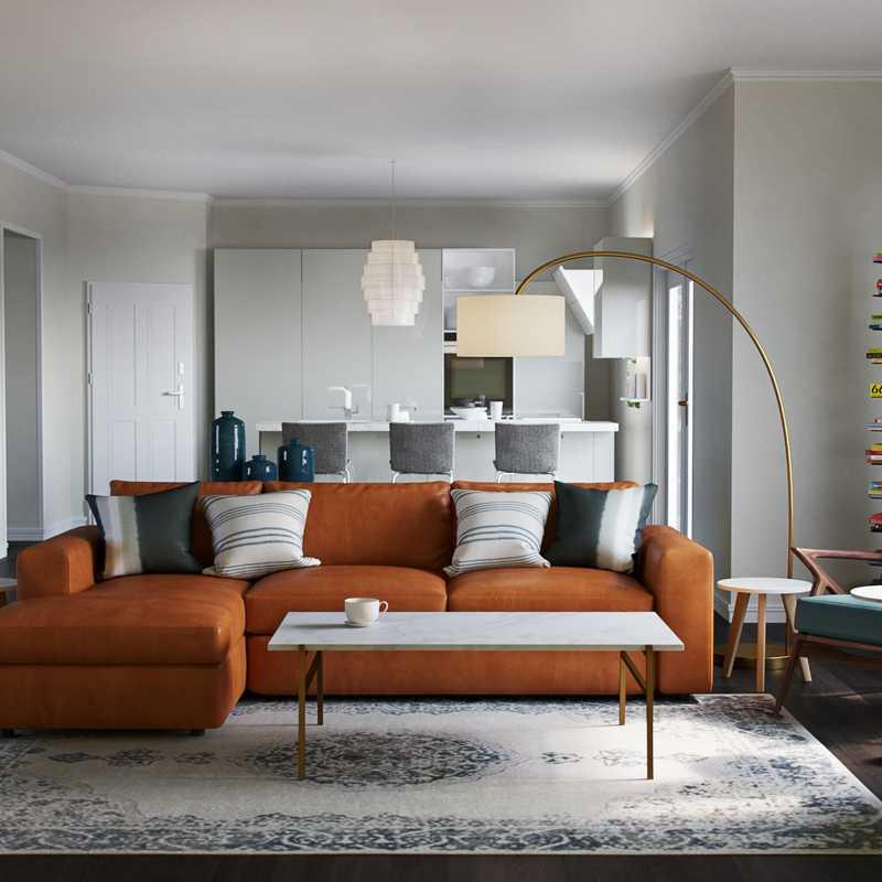 Eclectic, Minimal Living Room Design by Havenly Interior Designer Kyla