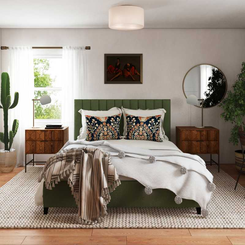 Eclectic, Transitional Bedroom Design by Havenly Interior Designer Emily