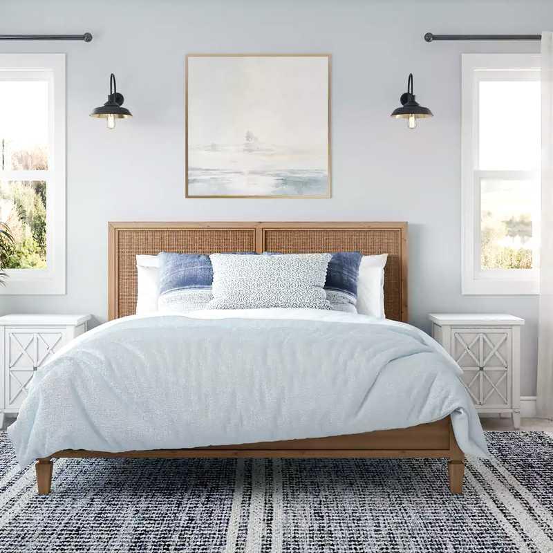 Coastal, Farmhouse Bedroom Design by Havenly Interior Designer Mariel
