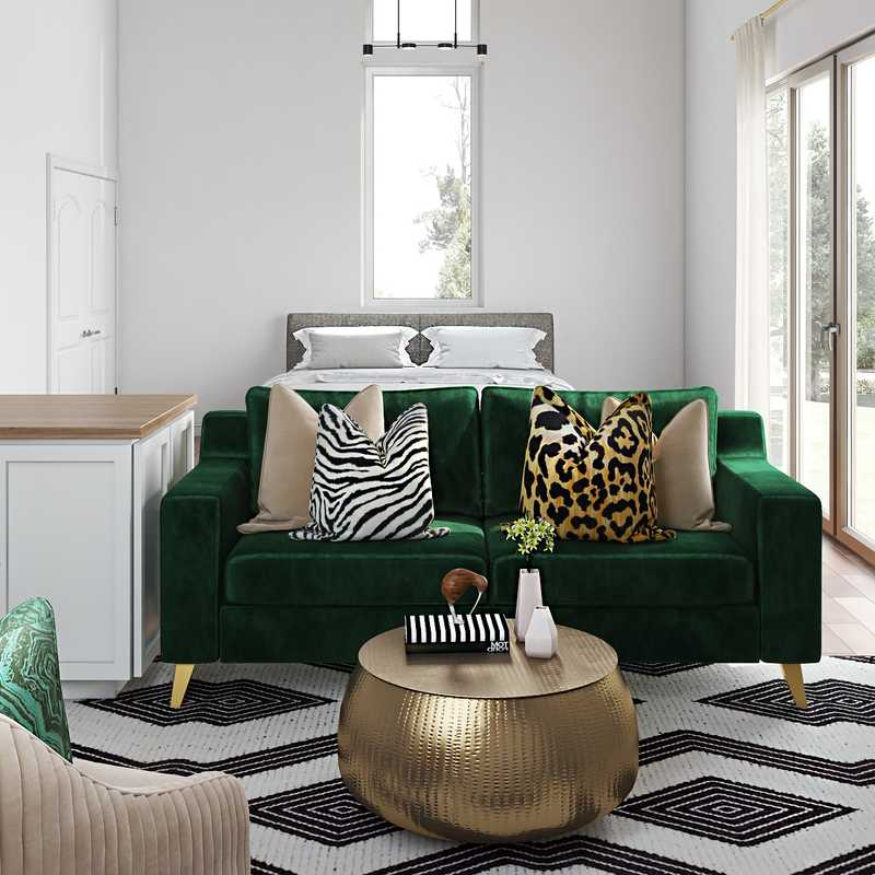 Eclectic, Glam, Global Living Room Design by Havenly Interior Designer Lydia