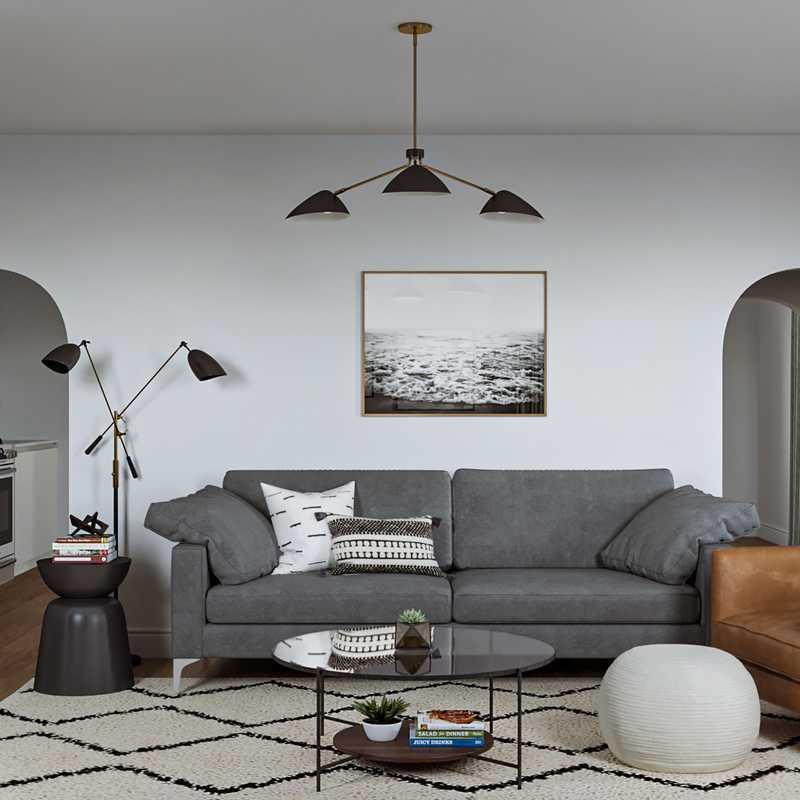 Classic, Transitional, Midcentury Modern, Scandinavian Living Room Design by Havenly Interior Designer Emilee
