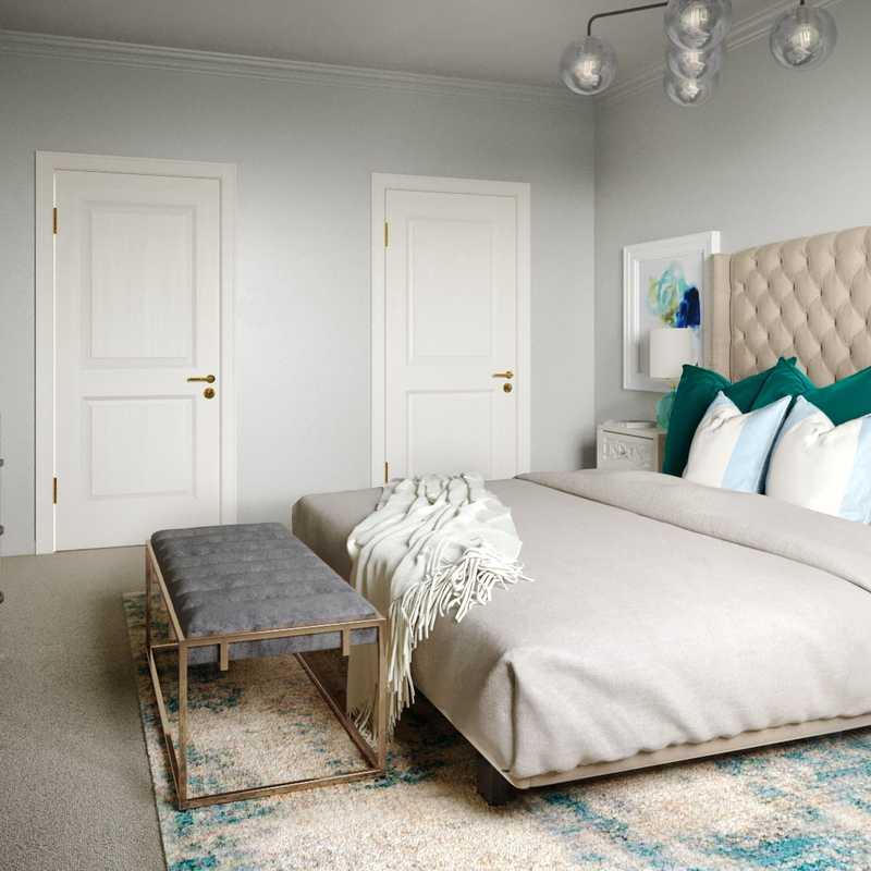 Glam Bedroom Design by Havenly Interior Designer Brittney