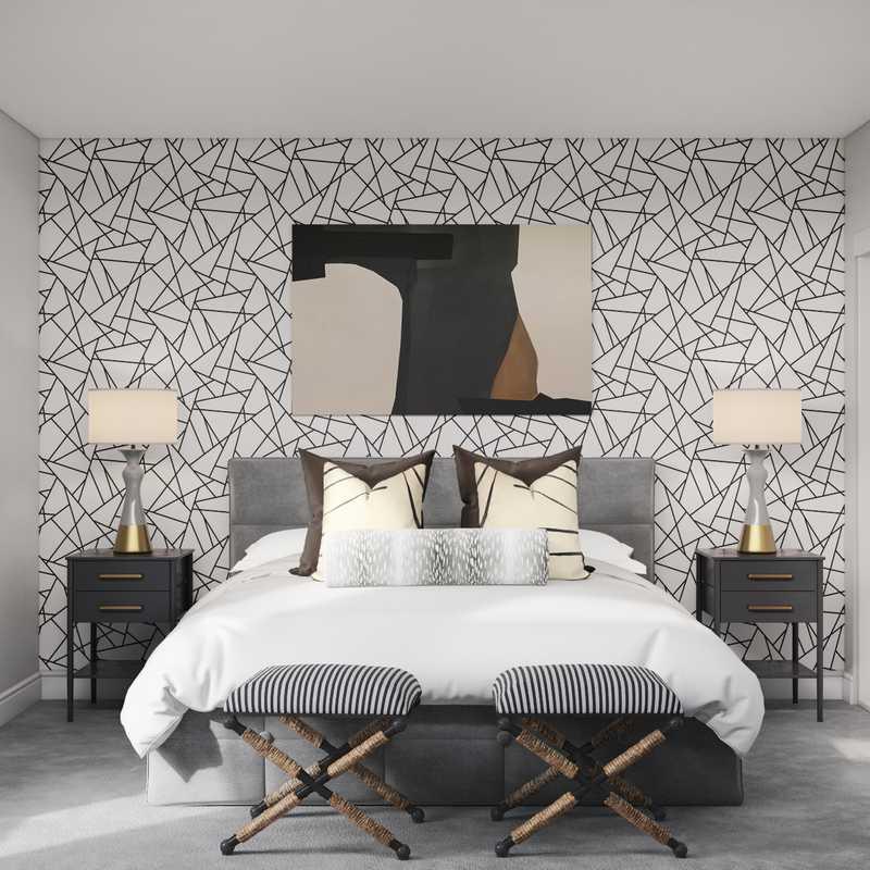 Contemporary Bedroom Design by Havenly Interior Designer Isaac
