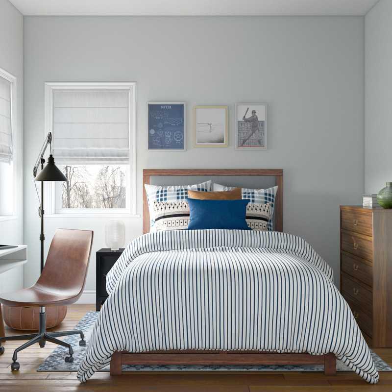 Modern, Industrial Bedroom Design by Havenly Interior Designer Isabella