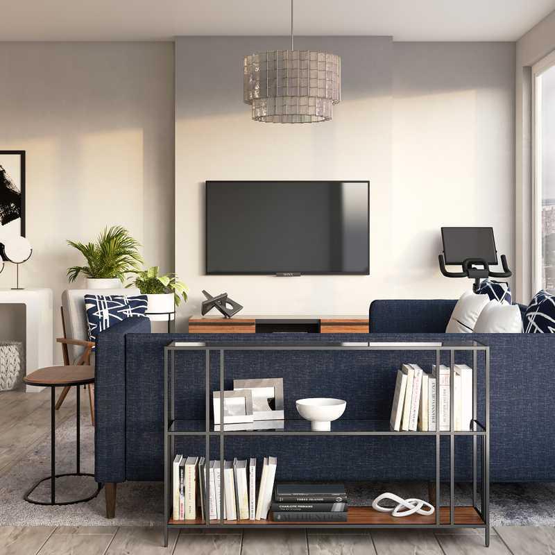 Modern, Industrial Living Room Design by Havenly Interior Designer Jacqueline