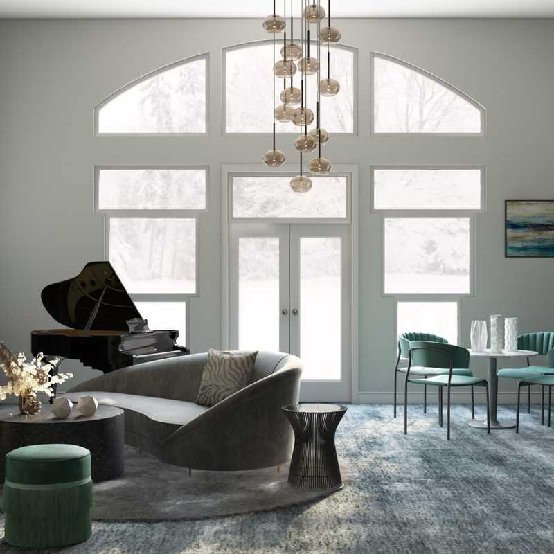 Modern, Eclectic, Glam Living Room Design by Havenly Interior Designer Waleska