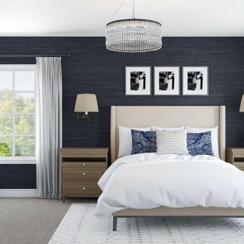 Modern, Rustic Bedroom Design by Havenly Interior Designer Barbara