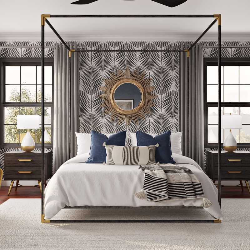 Modern, Eclectic Bedroom Design by Havenly Interior Designer Laura