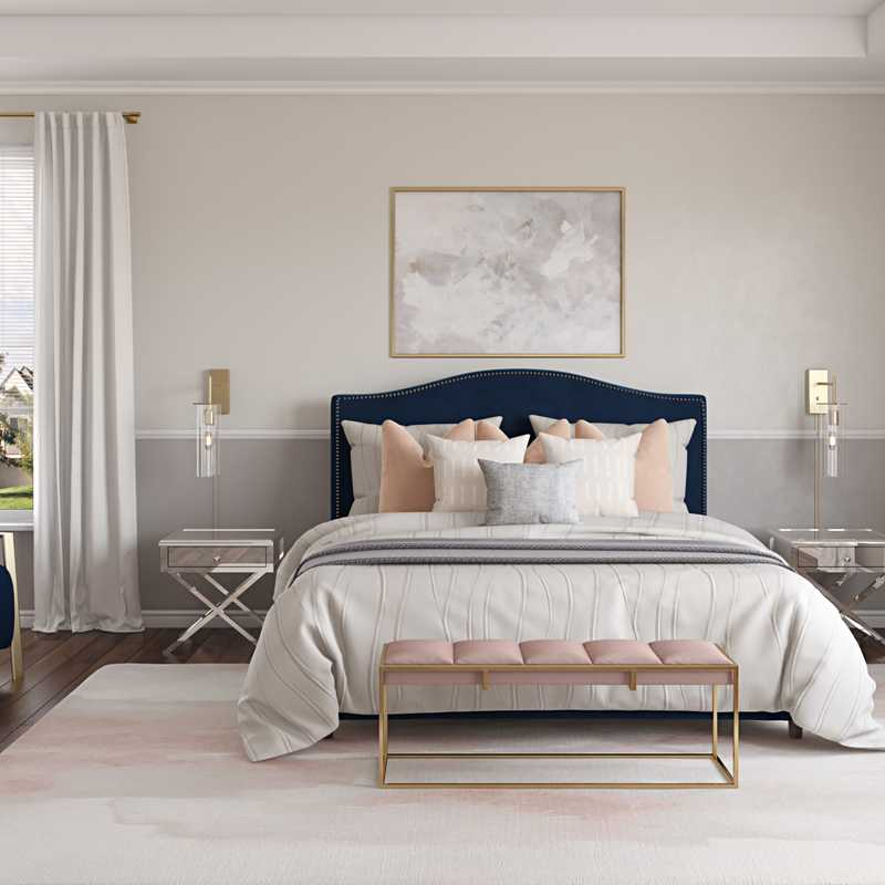 Modern, Glam Bedroom Design by Havenly Interior Designer Rebecca