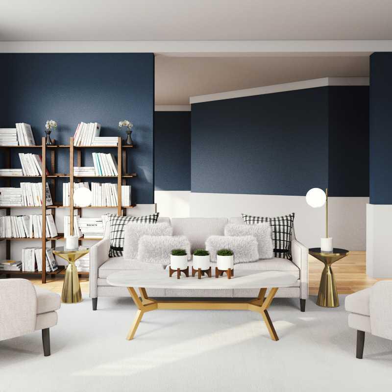 Eclectic Living Room Design by Havenly Interior Designer Julio