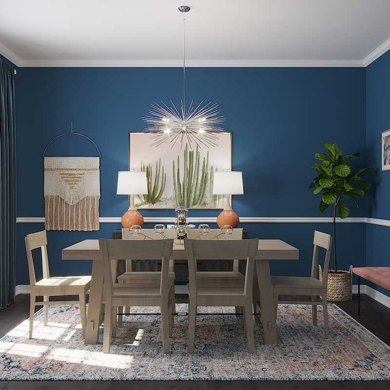 Eclectic Dining Room Design by Havenly Interior Designer Linlee