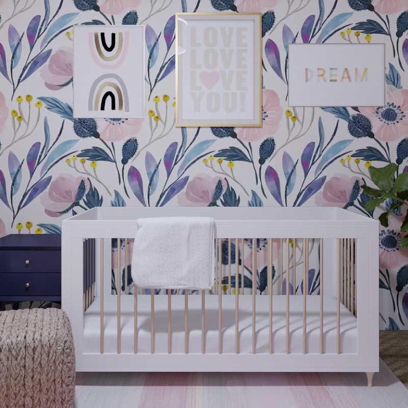 Preppy Nursery Design by Havenly Interior Designer Samantha
