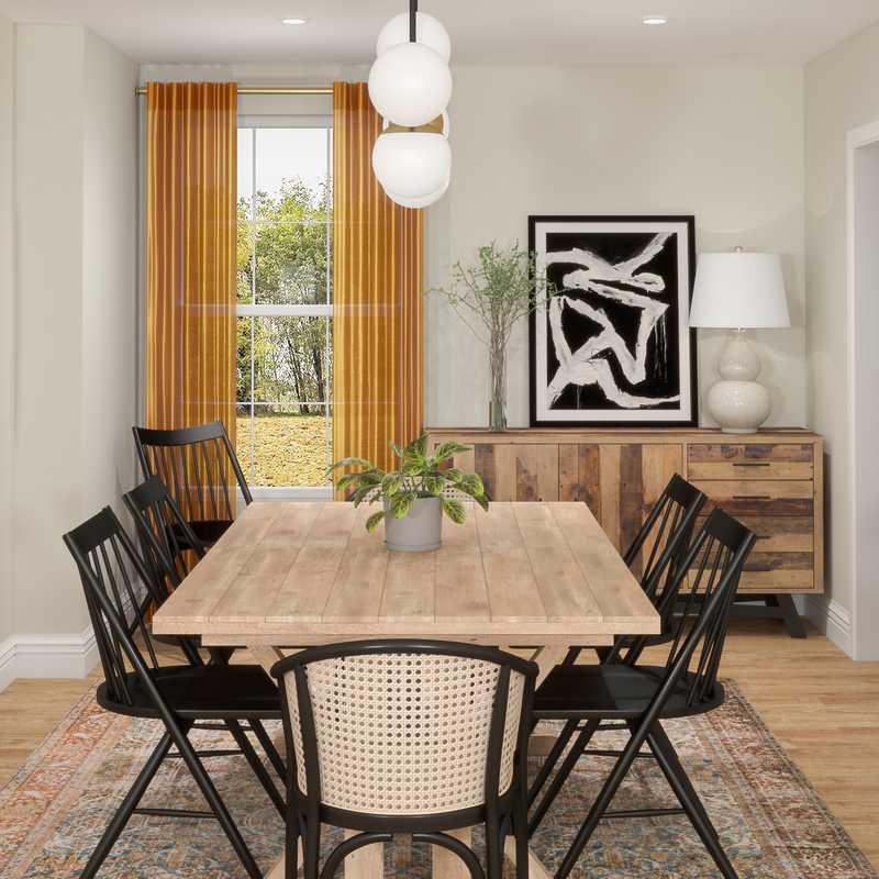 Modern, Bohemian Dining Room Design by Havenly Interior Designer Matthew