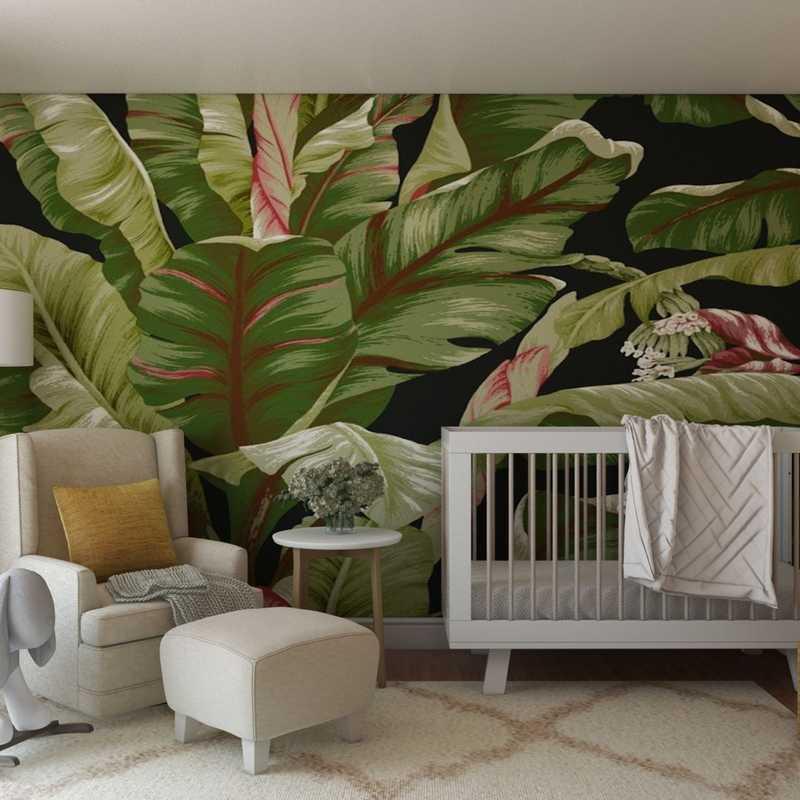 Bohemian, Scandinavian Nursery Design by Havenly Interior Designer Aishwarya