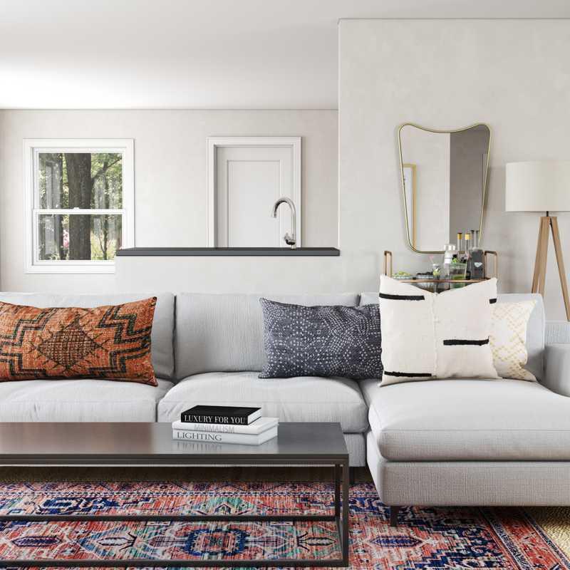 Bohemian Living Room Design by Havenly Interior Designer Markie