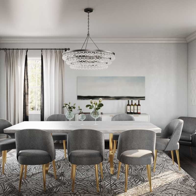 Modern, Classic, Glam, Traditional Dining Room Design by Havenly Interior Designer Rita