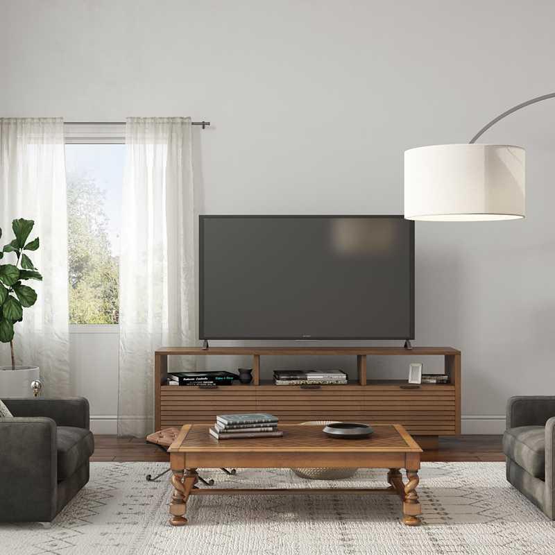 Modern, Industrial Living Room Design by Havenly Interior Designer Ryan