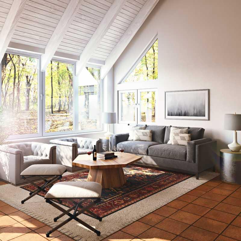 Modern, Industrial, Rustic Living Room Design by Havenly Interior Designer Brady