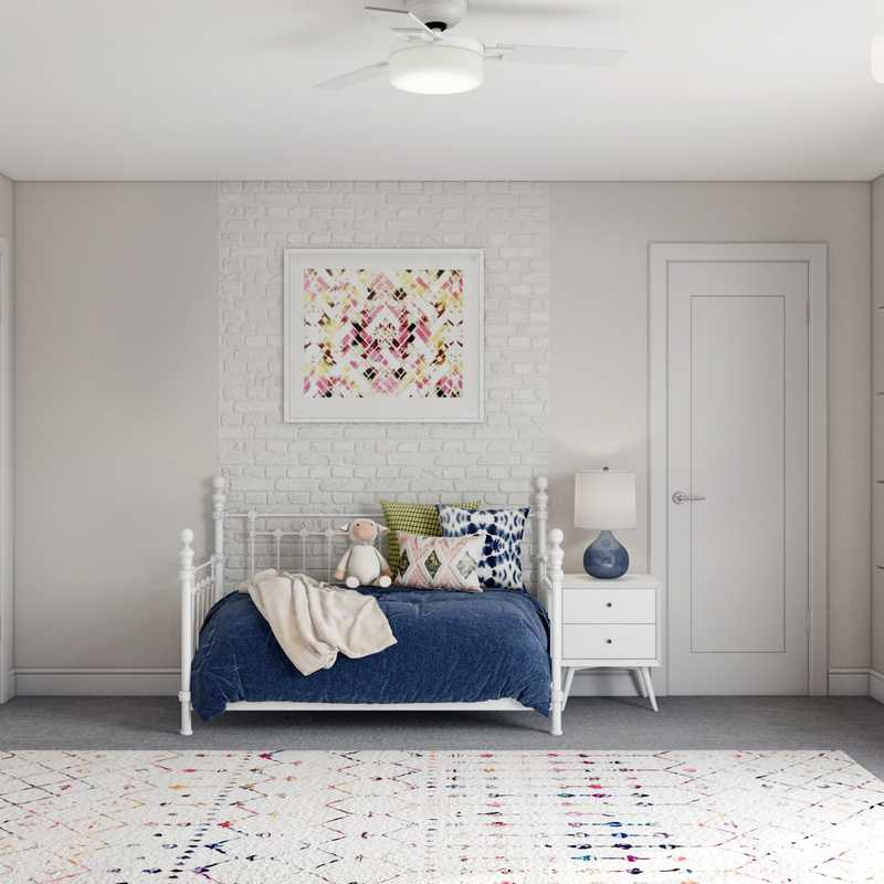 Contemporary, Eclectic, Bohemian Bedroom Design by Havenly Interior Designer Ashley