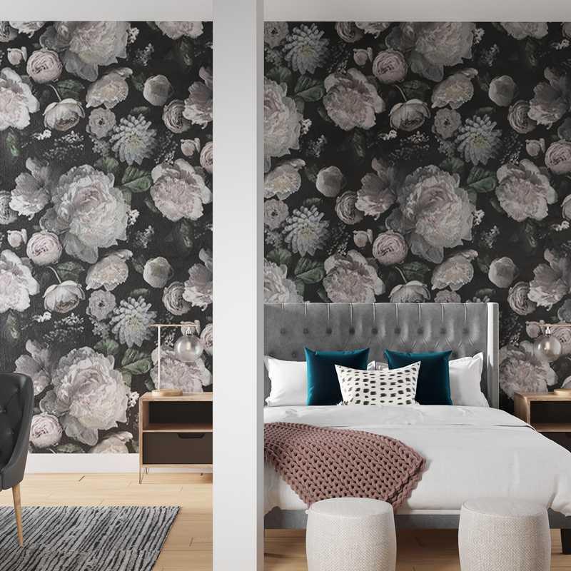 Contemporary, Eclectic, Glam, Industrial, Midcentury Modern Bedroom Design by Havenly Interior Designer Amanda