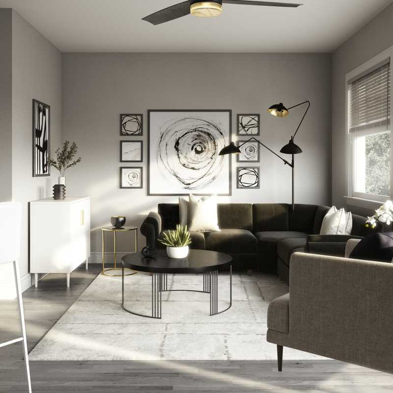 Contemporary, Classic, Glam Living Room Design by Havenly Interior Designer Fendy