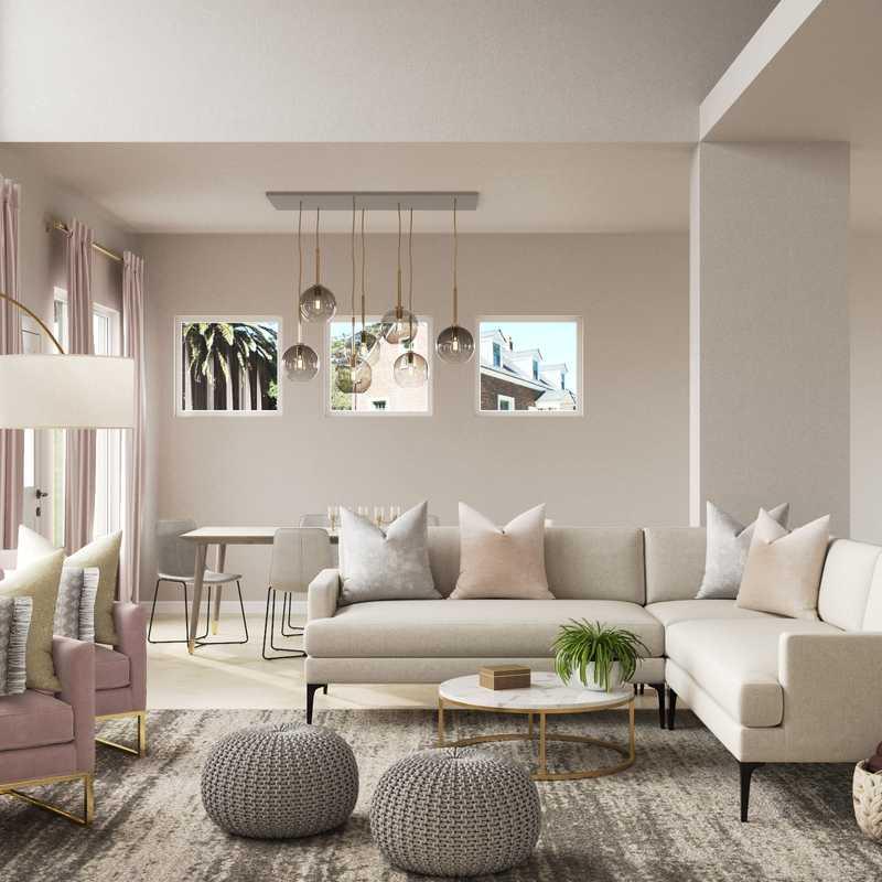 Modern, Minimal Living Room Design by Havenly Interior Designer Karen