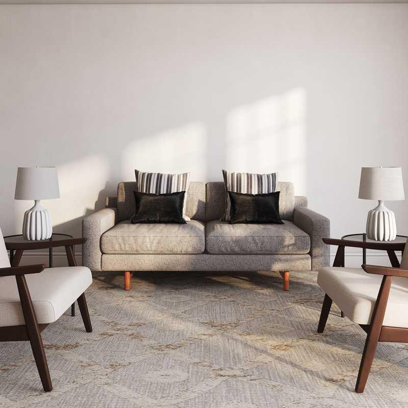 Modern, Minimal Living Room Design by Havenly Interior Designer Ashley