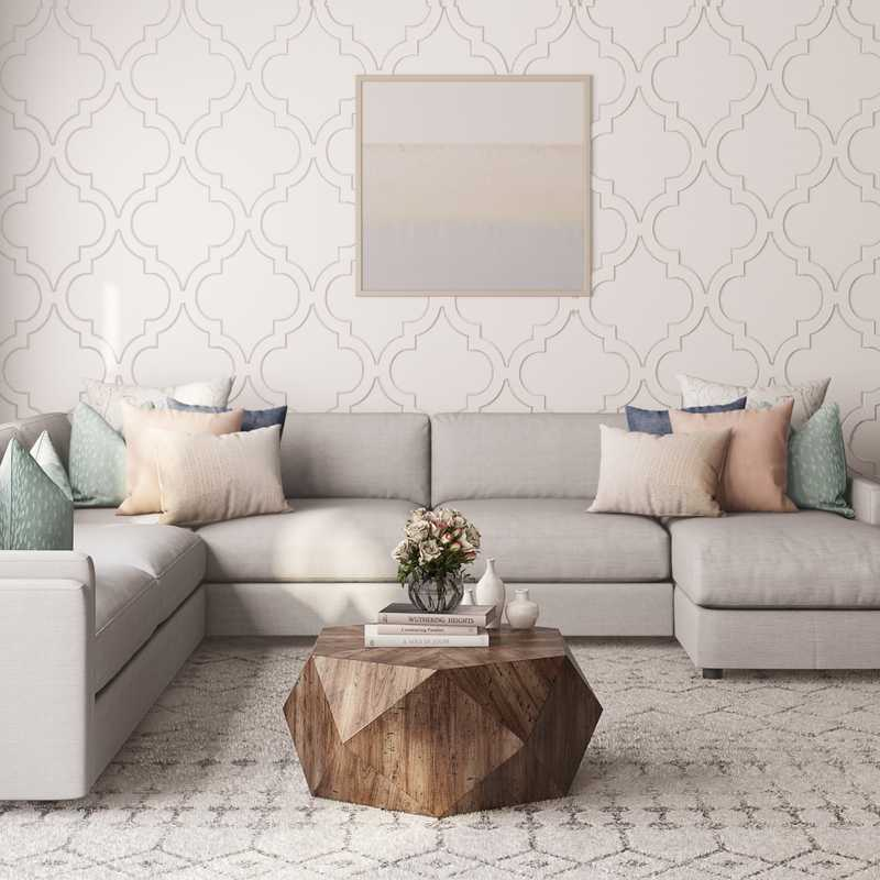 Contemporary, Classic Living Room Design by Havenly Interior Designer Sandra