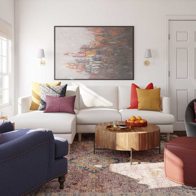 Eclectic, Bohemian Living Room Design by Havenly Interior Designer Patrice