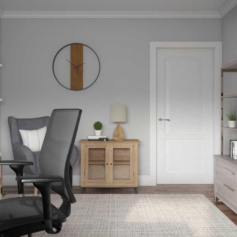Modern, Transitional, Minimal Office Design by Havenly Interior Designer Christy