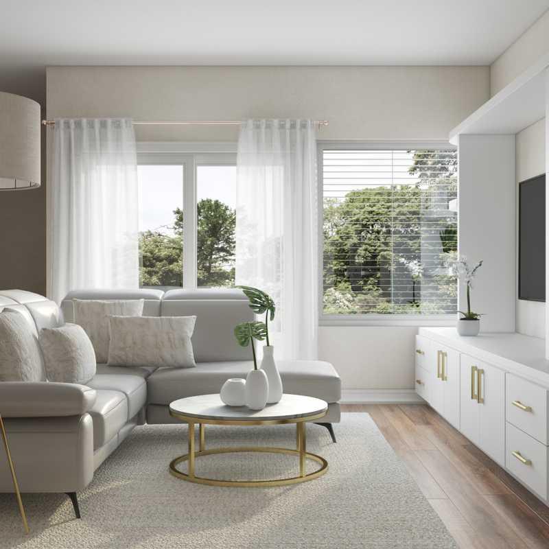 Modern, Glam, Midcentury Modern Living Room Design by Havenly Interior Designer Denise