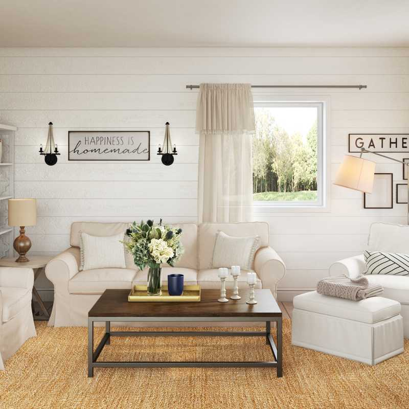 Farmhouse Living Room Design by Havenly Interior Designer Heather