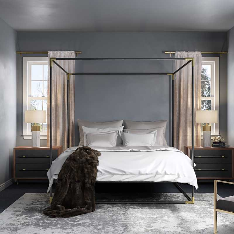 Modern, Glam, Midcentury Modern Bedroom Design by Havenly Interior Designer Natalie