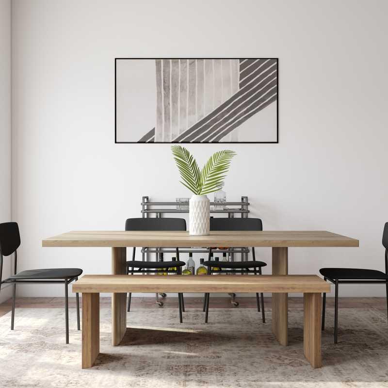 Modern, Minimal, Scandinavian Dining Room Design by Havenly Interior Designer Madison