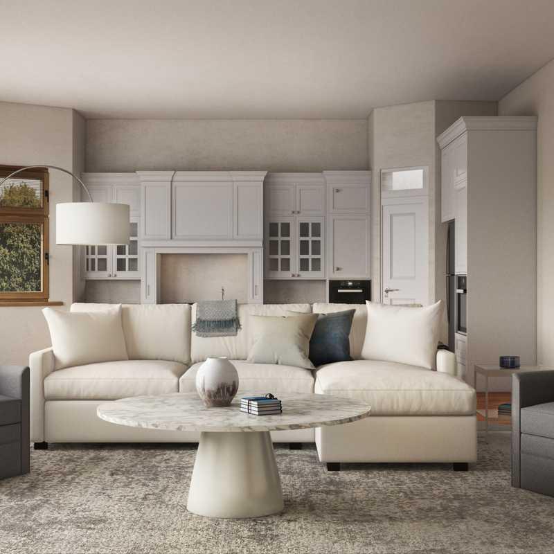 Modern, Glam, Rustic Living Room Design by Havenly Interior Designer Laura