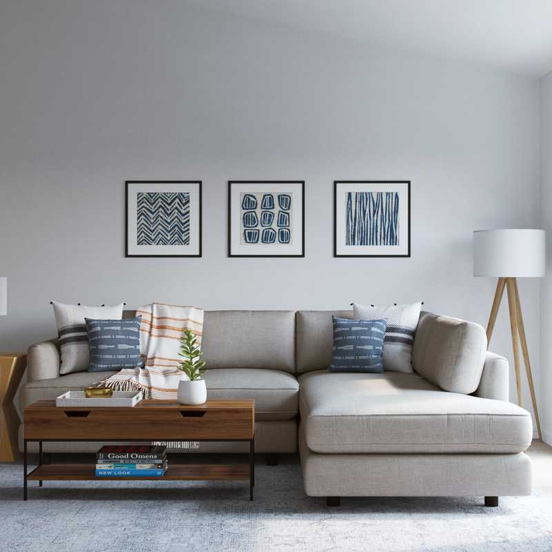 Contemporary, Modern, Scandinavian Living Room Design by Havenly Interior Designer Rachel