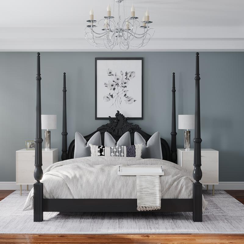 Coastal, Farmhouse Bedroom Design by Havenly Interior Designer James