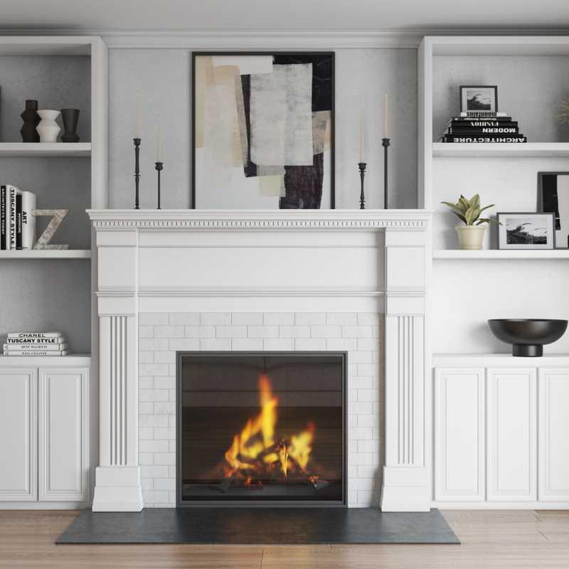 Modern, Glam, Minimal, Scandinavian Living Room Design by Havenly Interior Designer Shalene