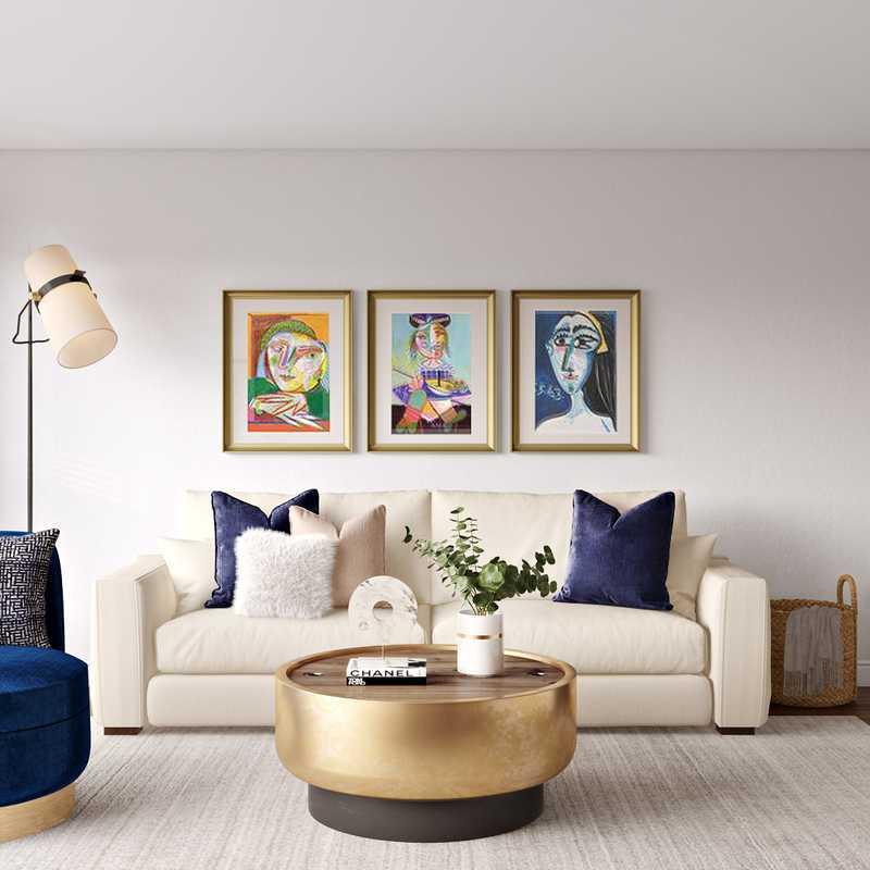 Modern, Eclectic Living Room Design by Havenly Interior Designer Karen