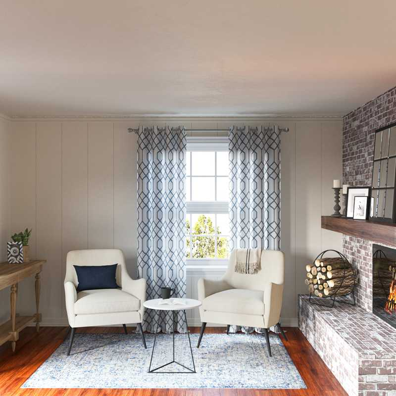 Classic, Farmhouse, Rustic Living Room Design by Havenly Interior Designer Marsha
