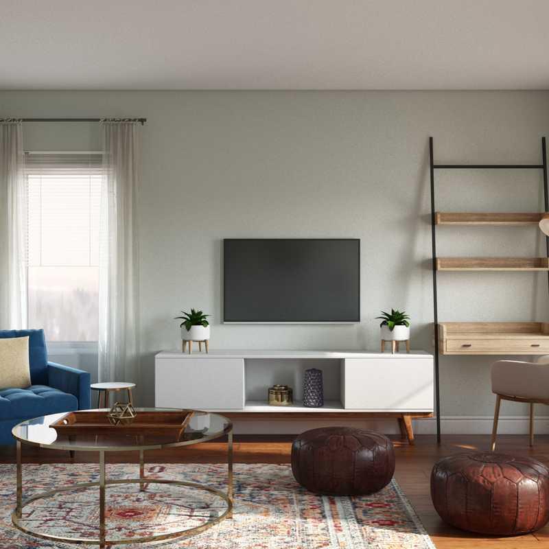 Bohemian Living Room Design by Havenly Interior Designer Allison