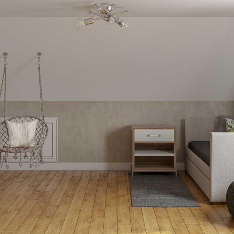 Bohemian, Scandinavian Bedroom Design by Havenly Interior Designer Monica