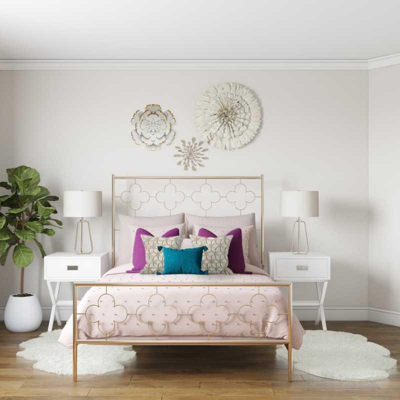 Bohemian, Glam Bedroom Design by Havenly Interior Designer Chanel